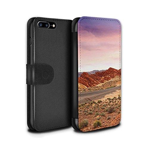 Stuff4 Coque/Etui/Housse Cuir PU Case/Cover pour Apple iPhone 7 Plus / Montagnes Design / État du Nevada Collection Paysage