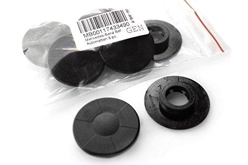 Mercedes Fußmatten Befestigung / Clip (8-teilig) schwarz