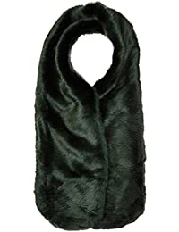Twist & Tango Women's Viola Faux Fur Collar Neckerchief, Green (Forest), One Size