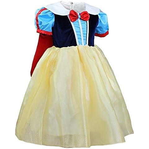 FEESHOW Vestidos de Princesa Disfraz de Fiesta para Niña Infantil