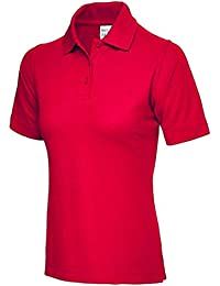 538352bf1817b Ladies Pique Polo Shirt Size UK 8 to 26 Plus All Colours NEW Casual Sports  Gym