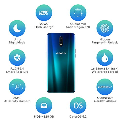 Oppo R17 (Ambient Blue, 8GB RAM, 128 GB Storage) with No Cost EMI/Additional Exchange Offers