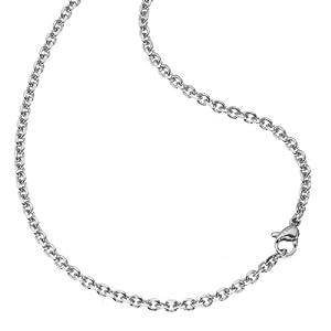 ZEEme Stainless Steel Unisex Collier Edelstahl Glänzend grau 389050016