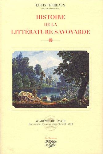 Histoire de la littérature savoyarde