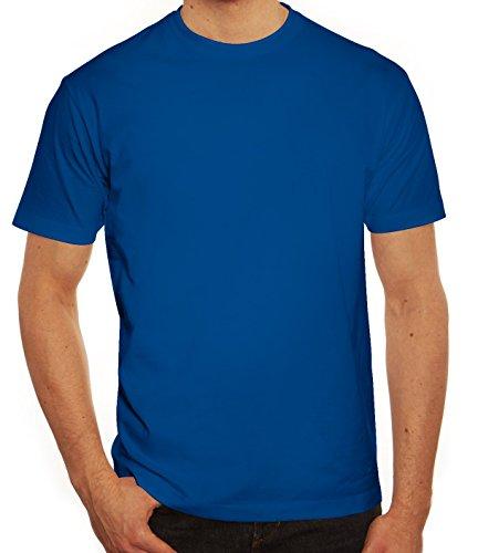 Valentinstag Hochzeit Paar Partner Valentine Herren T-Shirt mit King 01 hinten Motiv Royal Blau