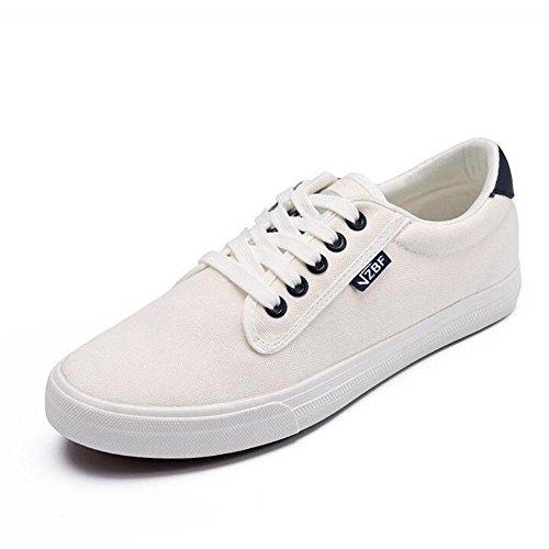 MM Mode Ventilation décontracté Toile Chaussures blanc