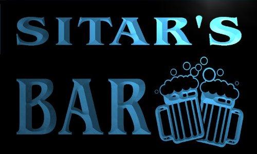 w033922-b SITAR Name Home Bar Pub Beer Mugs Cheers Neon Light Sign Barlicht Neonlicht Lichtwerbung