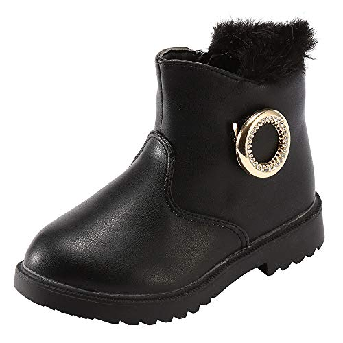 ❤️ Botas Cortas para niñas, Winter Warm Kids Infant Baby Girls Matel Crystal Ankle Short Botas para la Nieve Zapatos Absolute