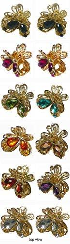 Mini-butterfly-clips (Dutzend Pack Mini Butterfly Clips in Pale Gold Tone u864175-1570-d)