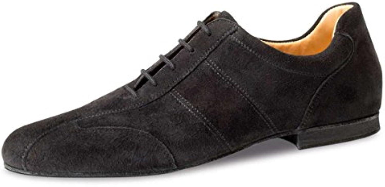 Werner Kern Hombres Zapatos de Baile 28045 - Ante Negro - 1.5 cm Micro-Heel  -