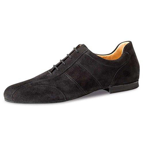Werner Kern Hombres Zapatos de Baile 28045 - Ante Negro - 1.5 cm Micro-Heel [UK 12,5]