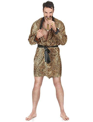 Peignoir léopard homme - Taille Unique