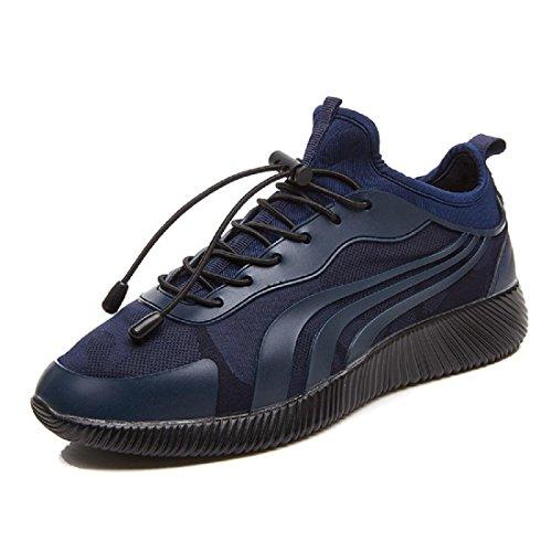 Hombres Transpirables Zapatos Casuales Zapatillas Deportivas Antideslizantes Zapatillas Deportivas Zapatillas Bailarinas Euro Talla 39-44 Azul