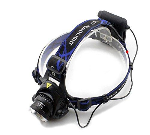 Preisvergleich Produktbild Genwiss 5000lm wasserdichte CREE XML T6 Zoom LED Stirnlampe Kopflampe Hauptlampen-Licht Zoomable justieren Fokus für Camping Biking Arbeits Jagen Fischen Reiten Walking (zählen 4 * AA-Batterien)