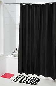 tendance rideau de douche noir taille 180 x 200 cm cuisine maison. Black Bedroom Furniture Sets. Home Design Ideas