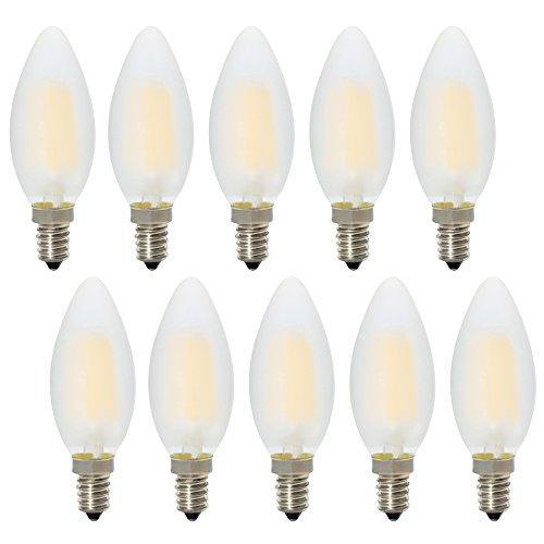 10er Pack E14 Kerze LED Lampe für Kronleuchter