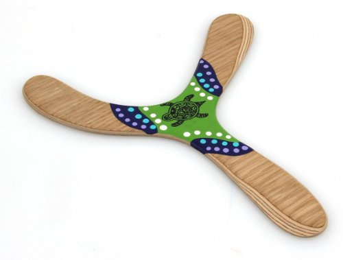 Wallaby Warramba - Wunderschöner handgemachter Bumerang aus Birkenholz, leicht zu fangen