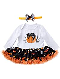 K-youth Vestido para Niñas, Vestidos Niña Otoño Invierno Tutu Princesa Vestido de niñas Bebe Mono Vestido Bebe Ceremonia Vestido Bebe Niña Bautizo Halloween Ofertas