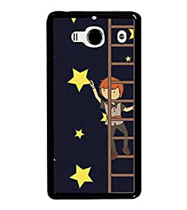 Fuson Premium 2D Back Case Cover Man on ladder With Black Background Degined For Xiaomi Redmi 2S::Xiaomi Redmi 2::Xiaomi Redmi 2 Prime