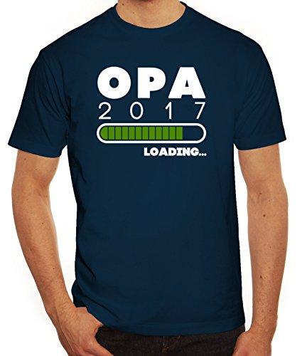 Geschenkidee Herren T-Shirt mit Opa 2017 Loading... Motiv von ShirtStreet Dunkelblau
