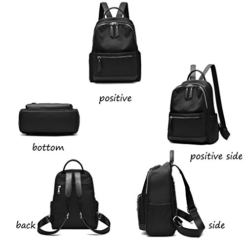 CLOTHES-_ Borsa a tracolla femminile Zaino da donna Oxford Canvas Lady Personality Wild Casual ( Colore : Verde ) Nero