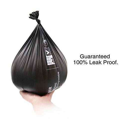 Aodoor Kotbeutel 100% Biologisch Abbaubar, Hundekotbeutel mit Beutelspender Gassibeutel / Hundebeutel Biologisch Abbaubar Umweltfreundlich Kompostierbar 11 Rollen - 5