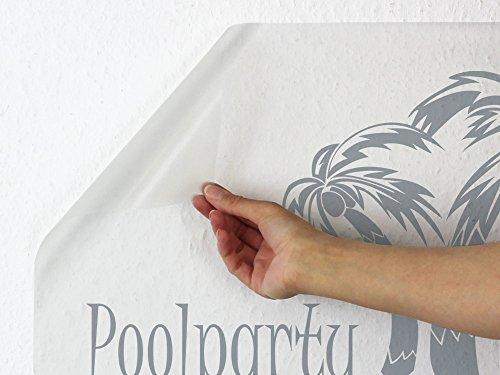 Wandaufkleber Tattoo Poolparty Palmen Blumen - 3