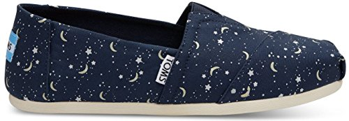 Toms Classic Navy Glow Moon Womens Espadrilles Shoes-4