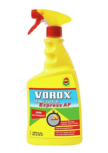 VOROX Unkrautfrei Express AF, Bekämpfung von Unkräutern an Zierpflanzen, Obst und Gemüse, Anwendungsfertig, 1 Liter