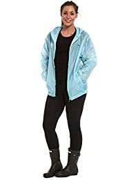 WOMENS LADIES GIRLS RAIN KAGOOL RAINCOAT KAG IN BAG PARKA FESTIVAL JACKET COAT