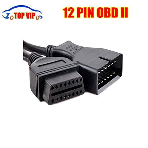 HANO 12 Pin 12Pin Stecker auf OBD OBD2 OBDII DLC 16 Pin Female CarTool Adapter ConverterFor G- M