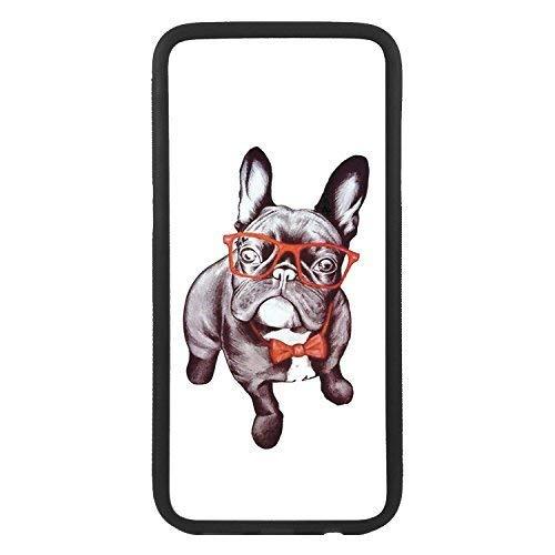custom-cases Hülle Tasche TPU für alle die Mobile mit Gestaltung von Bulldog Frances Sonnenbrille - Samsung S7