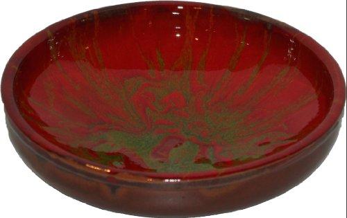 Amazing Cookware Bol en terre cuite tacheté Vert/rouge 25 cm
