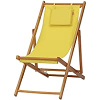 Siena Garden 672584 Faro - Tumbona, madera maciza, color amarillo