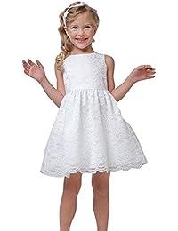 2084f2439d6 Mädchen Fest-kleid für Kinder Geburtstags Kleid Blumenmädchen Party  Spitzenkleid ...