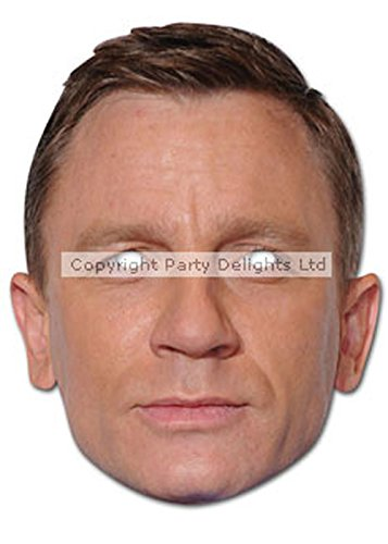 Daniel Craig 007 Bond Karte Gesichtsmaske (James Bond 007 Kostüme)