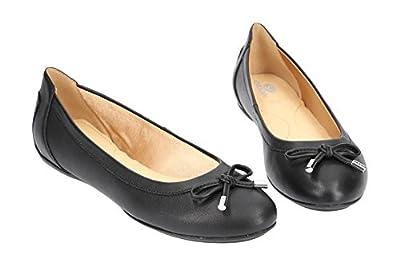 Geox Charlene D84Y7A Damen Ballerinas,Frauen Flats,Sommerschuh,Elegant,Schleife,Freizeit