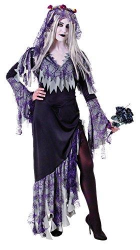 Bristol Novelty AC990Zombie Braut Kostüm, grau, UK Größe 10–14 (Ghost Ghoul Kostüm)