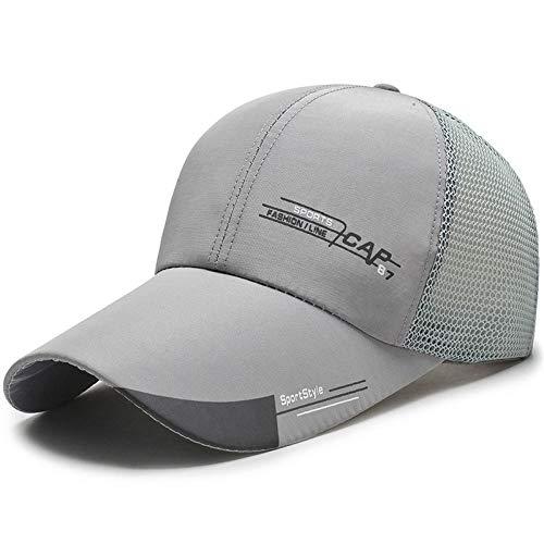 shunlidas Hüte Dekorationen Fischerhutherren Visier Angelhut @ Cap Gaze - Grey_Adjustable