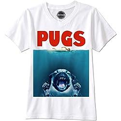 Camiseta manga corta pug tirburon