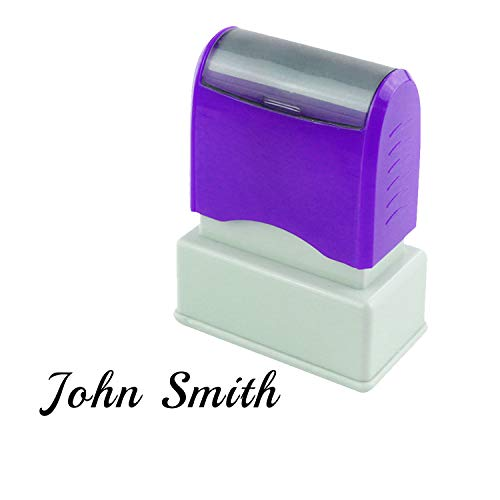 Stempel Unterschrift Kundenspezifischer Name Umschlag Schulbüro Firmenadresse Selbstfärbender Personalisierte Briefmarken (Schwarz)