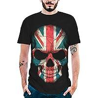 Camisetas Verano Hombre 3D Estampado CráNeo del CráNeo Que Transpirable Sudor AbsorcióN Crew Neck tee Camisas Blusa Tops Beladla