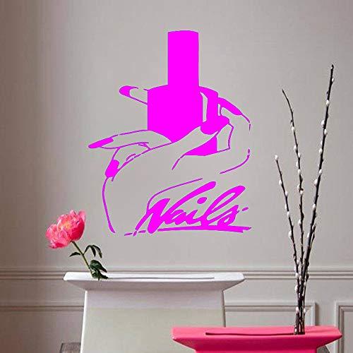Uñas Arte Vinilo adhesivos pared Salón belleza Manicura