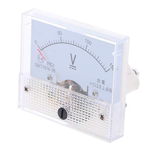B Blesiya Dc Rechteck Amperemeter Stromtester Analog Panel Voltmeter, Messbereich 0-5 V bis 0-600 V - 0-150 V -