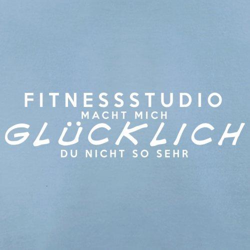 Fitnessstudio macht mich glücklich - Herren T-Shirt - 13 Farben Himmelblau