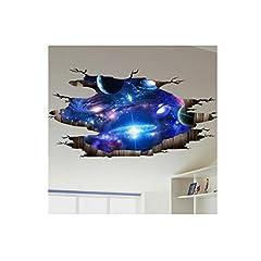 Idea Regalo - Fami 3D adesivi da parete del pavimento del pavimento Decalcomanie mobili smontabili Soggiorno dell'arte del vinile (D)