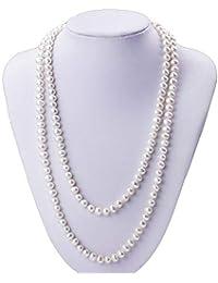 f7953ded522f62 CHENHANG Collana Monili delle Donne della Collana della Perla Naturale di  qualità Squisita 7Mm dei Monili