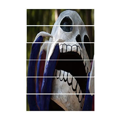 Themen Halloween Schälen und Kleben Horrible Wasserfest Leiter Aufkleber Abziehbilder Treppen selbstklebend Abnehmbar Wandbilder Dekoration für Das Haus ()