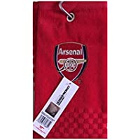 NEW 2018 ARSENAL FC CROSS TRI FOLD GOLF TOWEL BY PREMIER LICENSING.