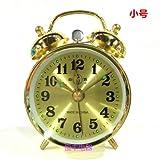 Cunclock Reloj Reloj Despertador mecánico Metal Primavera cuerda Manual antiguo núcleo de cobre jugar trompeta 867 máquinas de oro